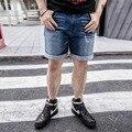 Мужская Стретч Половина Колена Шорты Плюс Размер Свободной Лето Джинсы Шорты Бегунов Брюки Мода Masculina Шорты 2XL-6XL