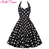 Women Vintage 50s Summer Big Swing Dress Plus Size Clothing 2018 Robe Retro Casual Party Vestidos Polka Dot Rockabilly Dresses