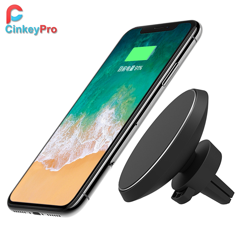 Magnetic car phone holder wireless charging 6