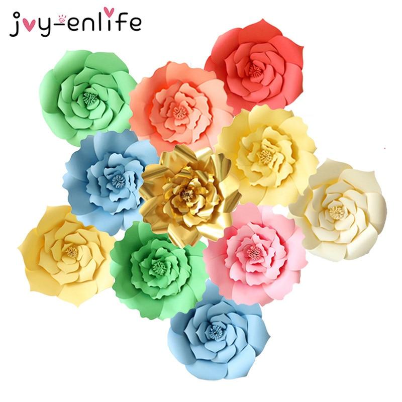JOY-ENLIFE 1 шт. 30 см/40 см DIY бумажные цветы фон декоративные искусственные цветы свадебной день рождения дома украшения