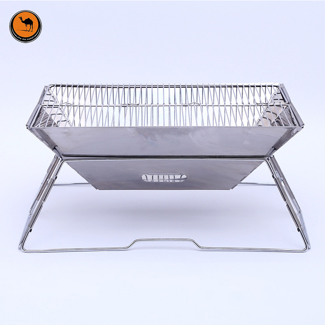 7eb83be8a02 High Quality Food Grade Stainless Steel Folding BBQ Charcoal Grill Outdoor  Camping Portable Cooking Stove for 3-5 Barbecue