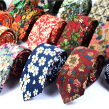 The new men s casual tie brushed cotton 6cm tie floral men and women fashion tie factory wholesale