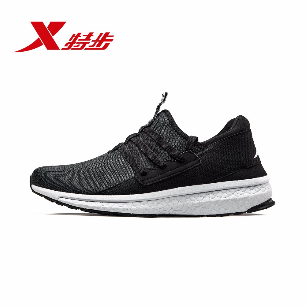 982219119296 Xtep 2018 Summer New Light And Comfortable Mesh Lace Men's Sports Running Shoes