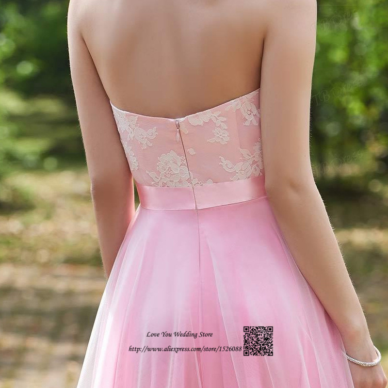 Ballkleider Pink Vintage Prom Dresses 2017 Lace Long Wedding Party Dress  Vestidos de Gala Sweetheart Empire Gowns for Bridesmaid-in Prom Dresses  from ... 078ece9da1ba