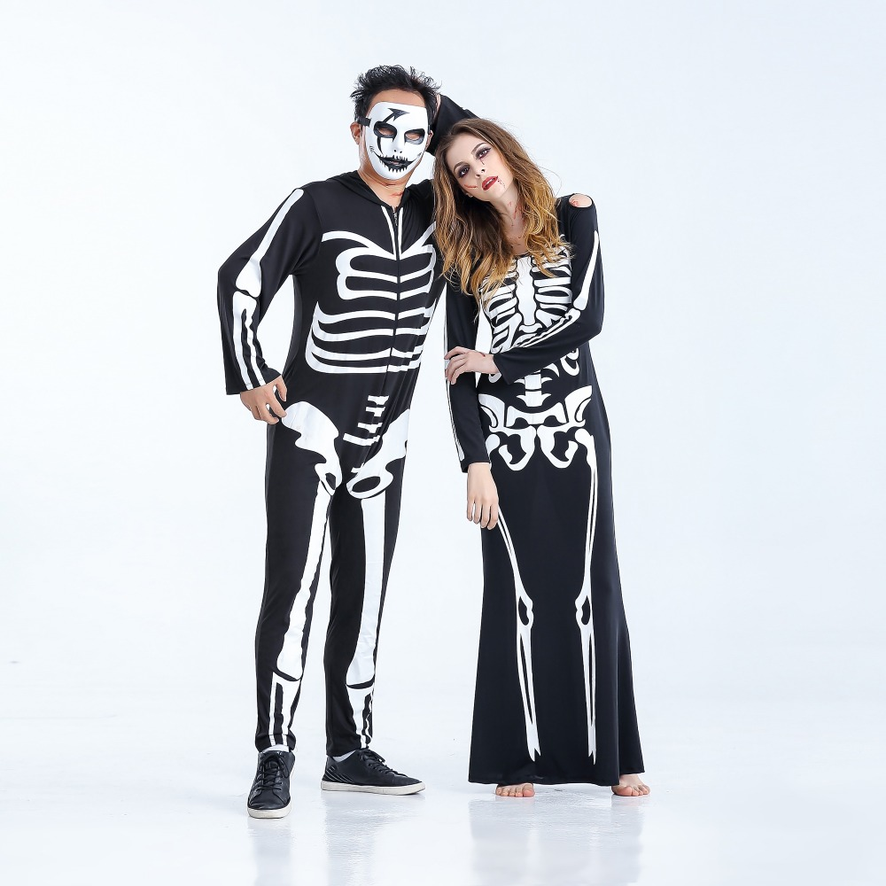 Halloween Role Playing Costumes Adult Terror Skeleton Costumes Women Ghost vampire witch Costume for Halloween party