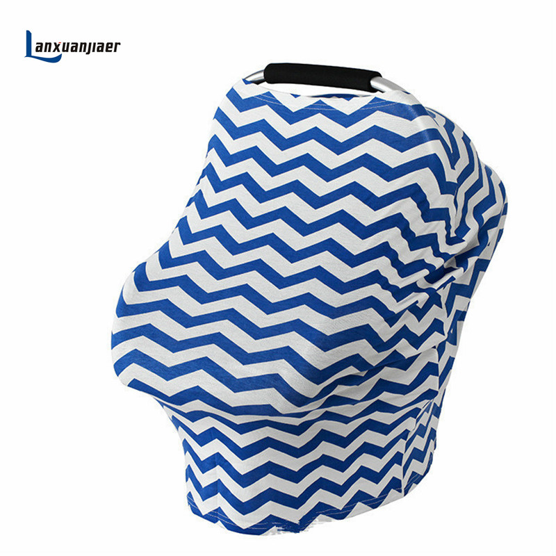 Lanxuanjiaer Nursing Cover Multi-Use Baby Blanket Swaddling Canopy Car Seat Cover Mom Stretchy Breathable Shopping Cart Canopie