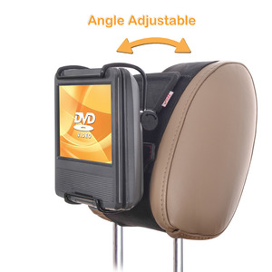 Image 2 - TFY Universal Car Headrest Mount Holder with Angle  Adjustable Holding Clamp for 7   10 Inch Swivel Screen Portable DVD Players,
