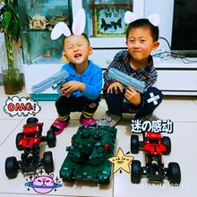 Technic RC Tank Motor Power Function MOC Building Blocks Bricks Military War DIY Technician Toys for boys(China)