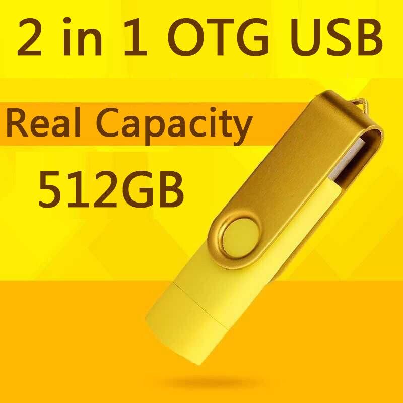 USB Drive 2.0 100% 32GB Smart Phone Tablet PC Flash Drives OTG External Storage Micro USB Pen Drive Memory Stick 64GB 128GB 1TB