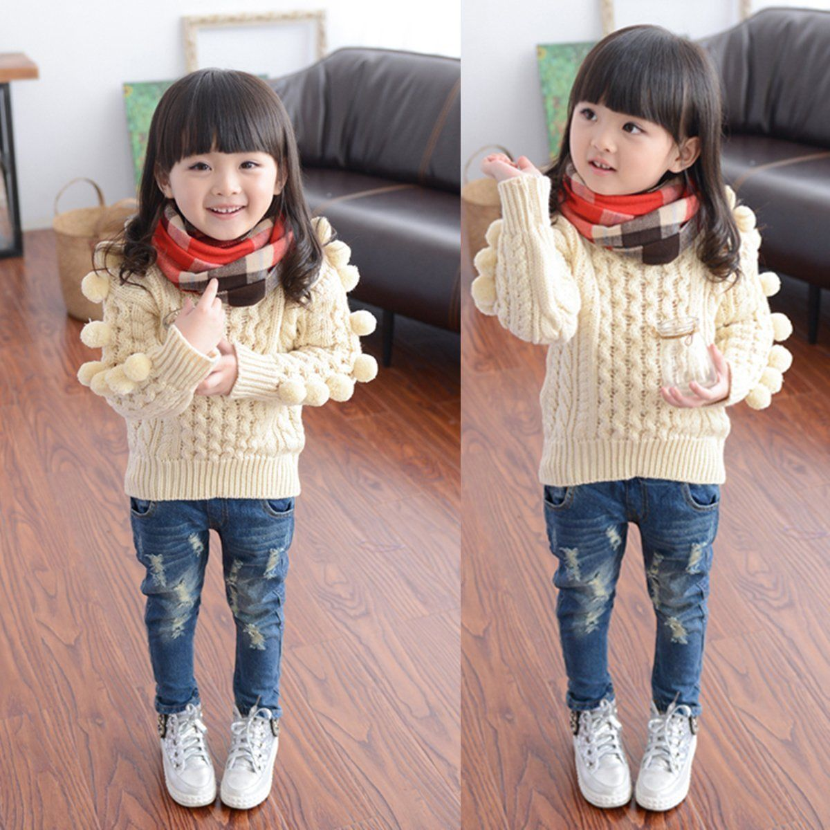34d33a14 Toddler Kids Baby Girls Boys Ripped Denim Skinny Jeans Beggars Hole Jeans  Child Pants Hip hop Unisex Trousers 2 7T-in Jeans from Mother & Kids on ...