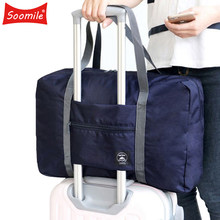 2018 NEW Folding Travel Bag Nylon Travel Bags Hand Luggage for Men Women Fashion Travel Duffle Bags Tote Large Handbags Duffel(China)