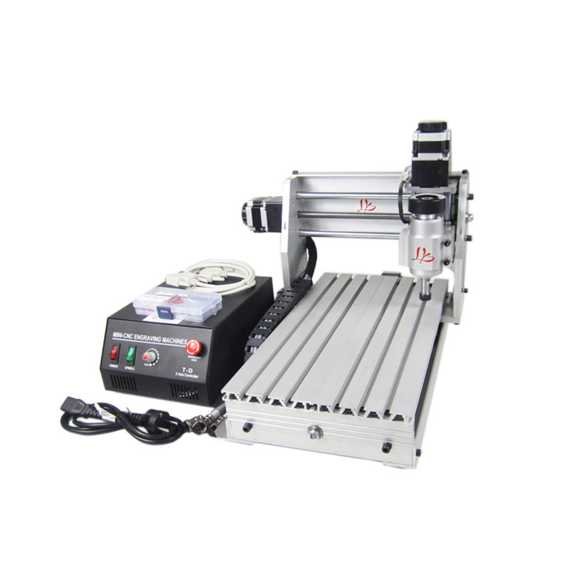 CNC 3020 T-DJ Mini milling machine CNC router engraver with black control box for wood pcb plastic drilling and milling mini cnc router rtm 6090 with t slot vacuum table