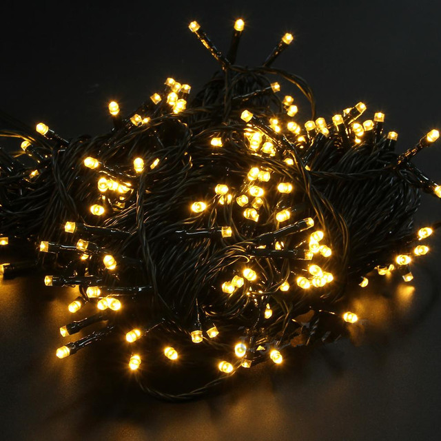 Uk Plug 30m 200leds 24v Fairy Led Lights Decoration Christmas Tree String Garlands Xmas Lampe
