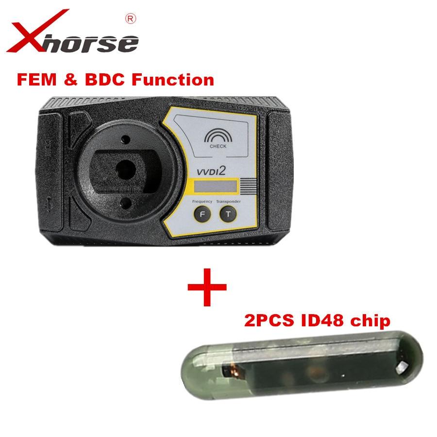VVDI2 para BMW FEM y BDC servicio de autorización de funciones para el comprador sin Ikeycutter Condor más 2 piezas ID48 Chip