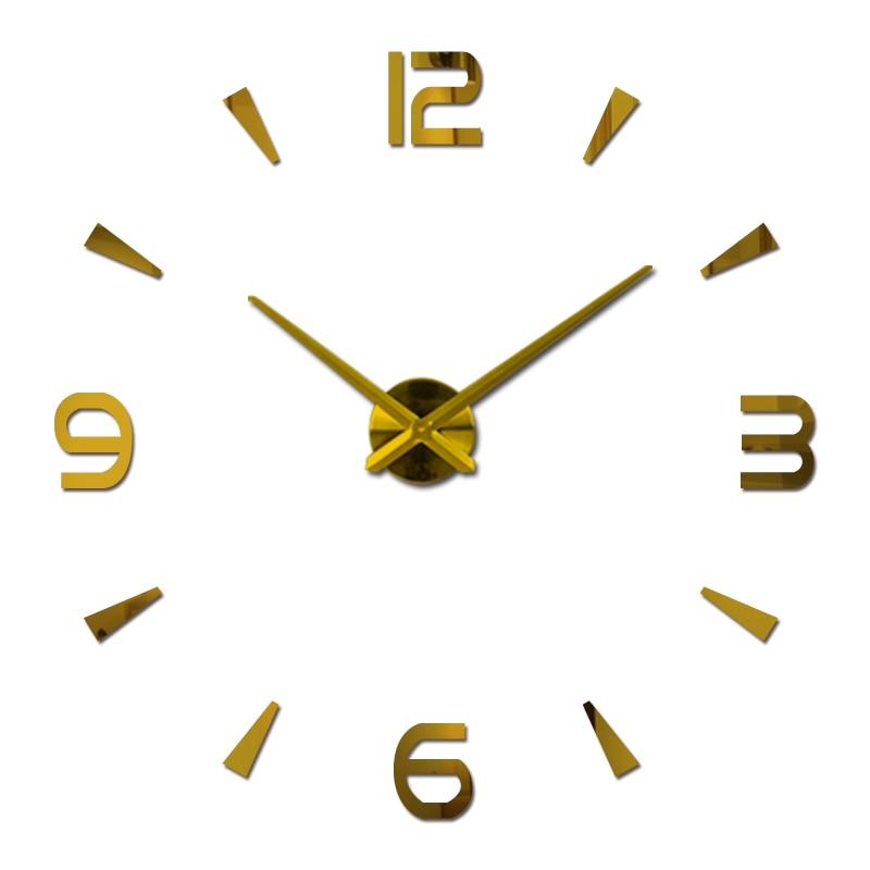 Fashion New Diy Acrylic Mirror Wall Clock Big Quartz Watch Still Life Clocks Living Room Home Decoration 3d Stickers Europe