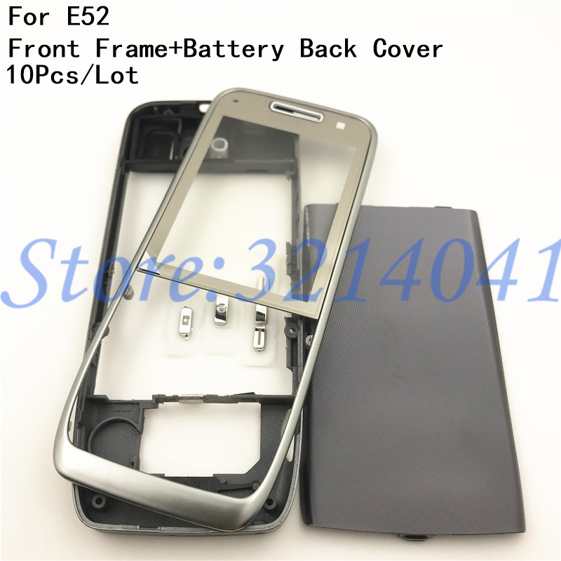 10Pcs Lot Good quality Original For Nokia E52 Housing Front Frame Battery Back Cover Logo Without