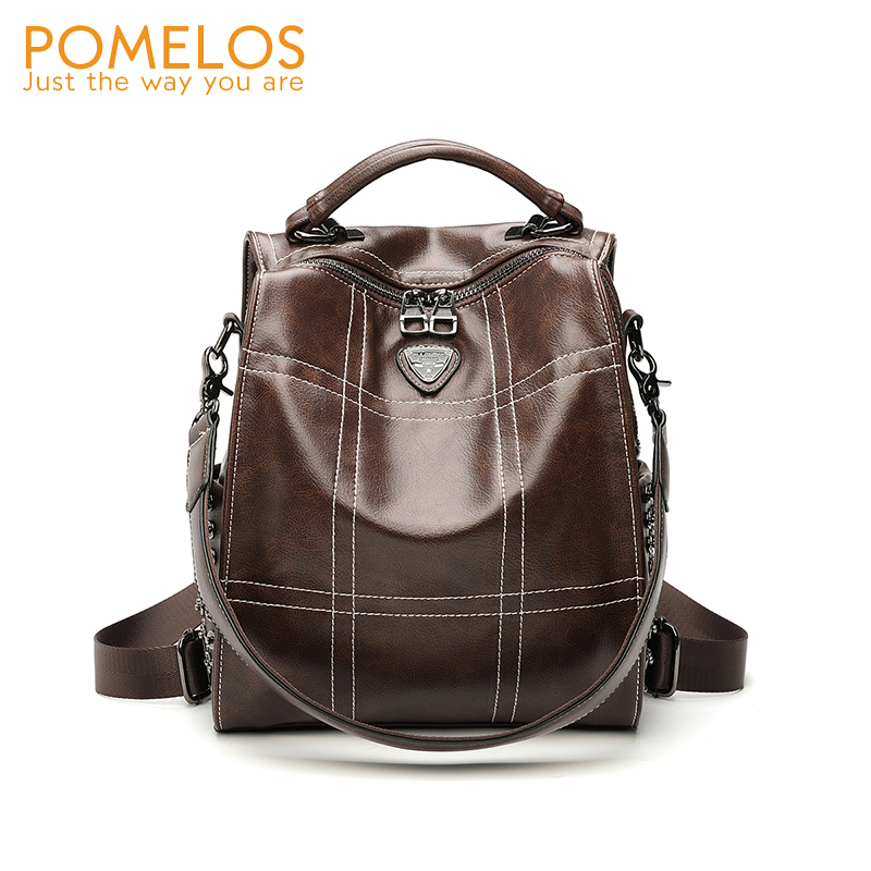 POMELOS Women Backpack Fashion New Designer For Synthetic Leather Travel Rucksack Back Pack Female Girl
