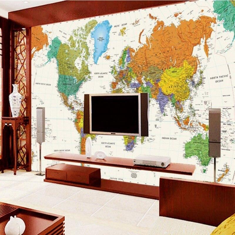 Fototapete Englisch weltkarte großes wandbild tapete büro wohnzimmer ...