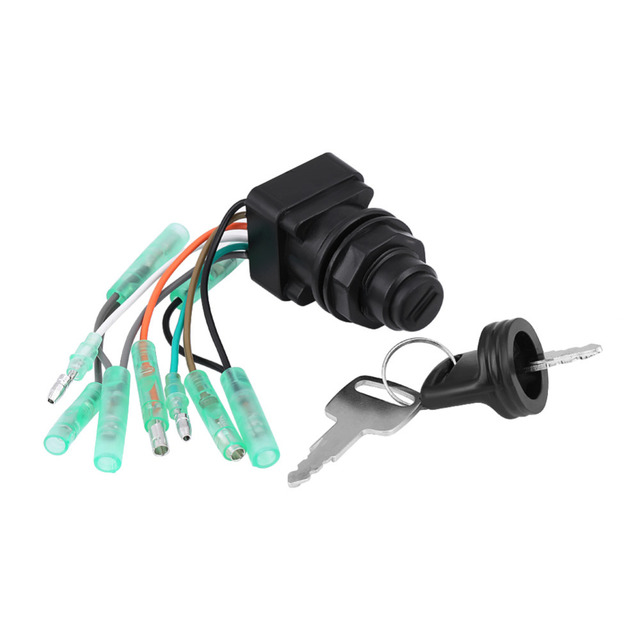US $20 55 15% OFF|Motor Ignition Key Switch Assembly for Suzuki Outboard  Control Box 37110 99E00 37110 92E01 New Arrive -in Motorcycle Switches from