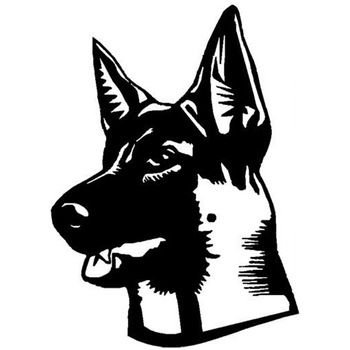 15.2*21.2CM Shepard Dog Classic Window Decals Personality Car Styling Decoration Stickers Black/Sliver C6-1014 image