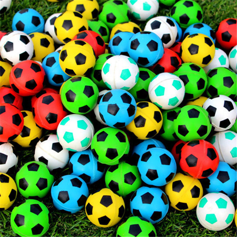 20pcs/30pcs/50pcs/80pcs/100pcs Funny toy 32MM bouncing football Bouncy Ball child rubber ball of soccer bouncy toy