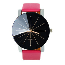 Casual Reloj Mujer Fashion 2017 uartz Dial Clock Watch Men Women Leather Band Round Case Business Wrist Watch Relogio Masculino
