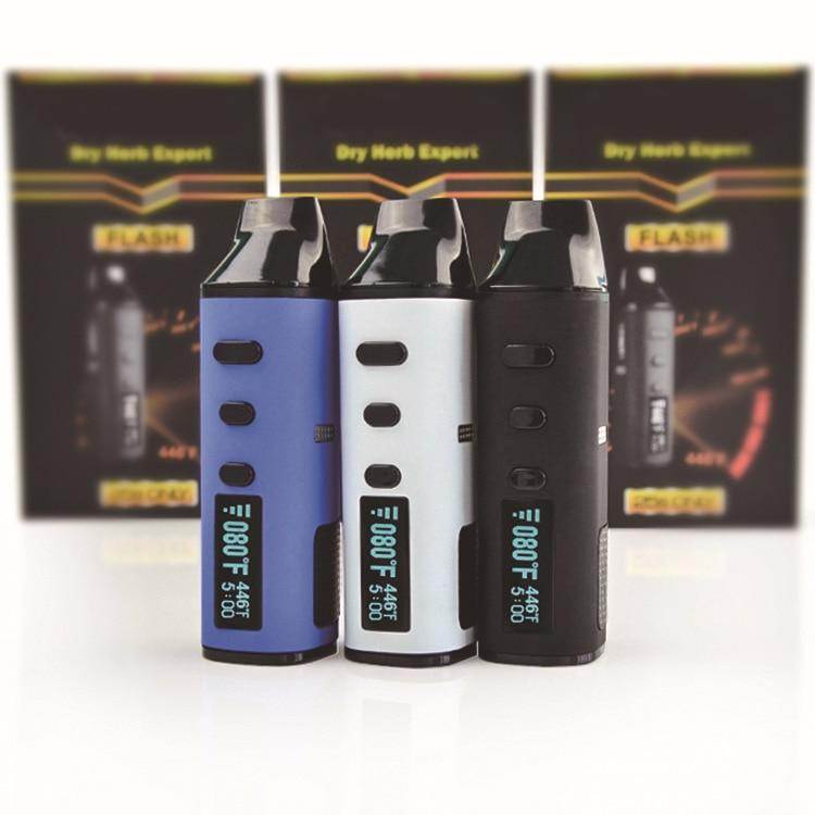 D'origine LvSmoke Flash Herbe Sèche Vaporisateur Cigarette Électronique 1600 mah Batterie En Céramique Chambre de Chauffage À Base de Plantes Cire Vaporisateur Stylo Kit