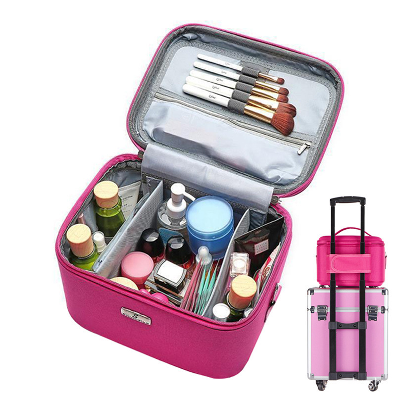 New Makeup Organizer Waterproof Makeup Bag Travel Organizer Cosmetic Box for Women Travel Large Capacity Storage Case SuitcasesNew Makeup Organizer Waterproof Makeup Bag Travel Organizer Cosmetic Box for Women Travel Large Capacity Storage Case Suitcases