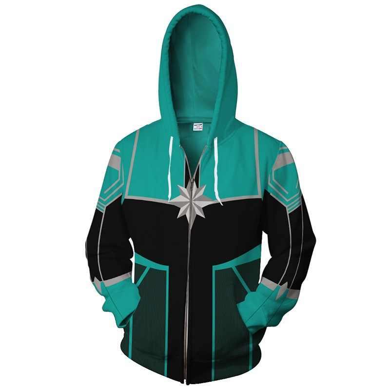 アベンジャーズ Endgame キャプテンマーベルコスプレパーカースウェット女性パーカー服キャロル Danvers ジャケットストリートトップス