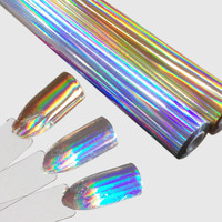 120M*16CM Wholesale Holographic Nail Transfer Foil Fashion Gold Silver DIY Nail Sticker Full Cover Nail Art Decals