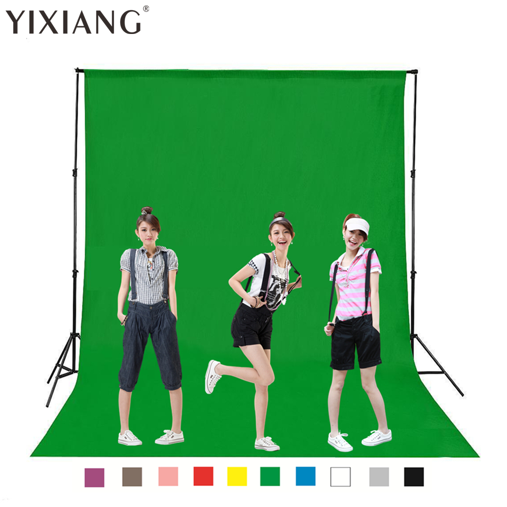 YIXIANG Free Tax To Russia 160 X 1 2 3 4 5M Green Screen Cotton Muslin Background Photography Backdrop Lighting Studio Chromakey