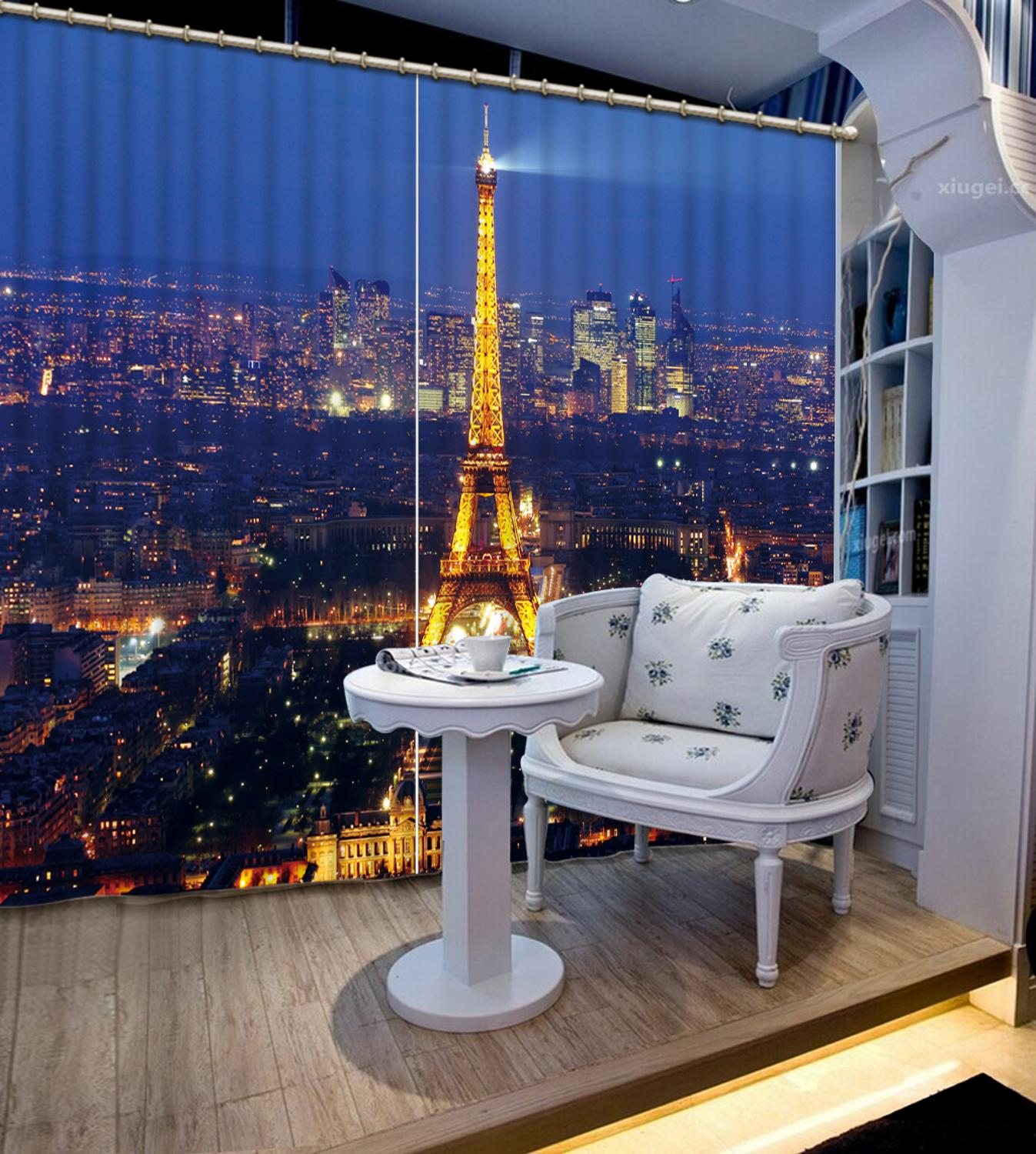 City night scene Curtain Luxury 3D Window Curtain For Living Room tower curtains Blackout curtainCity night scene Curtain Luxury 3D Window Curtain For Living Room tower curtains Blackout curtain