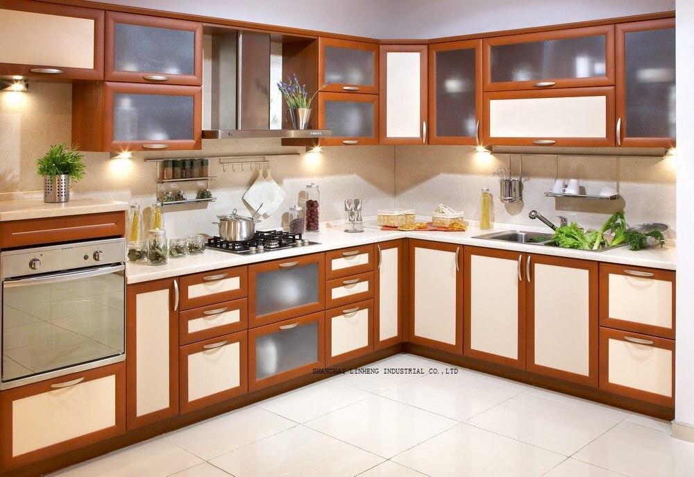 Классический кухонный шкаф твердой древесины (LH SW077)
