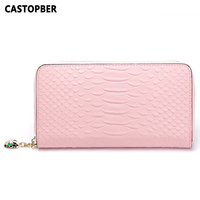 Embossed Python Pattern Womens Wallets Split Cowhide Leather New Arrival Designer Fashion Purse Women Wallet High