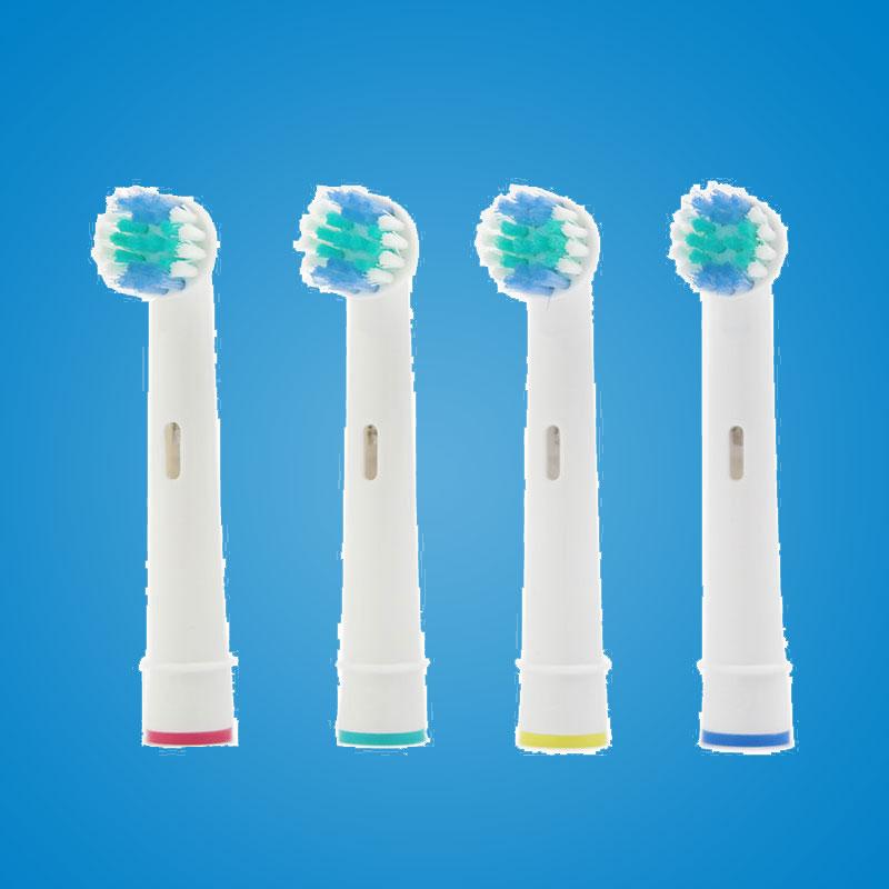 все цены на 4pcs replacement brush heads for oral-b electric toothbrush heads vitality ortho braun eb-10a онлайн