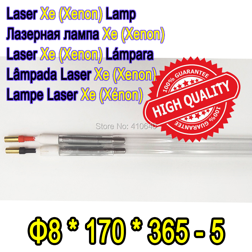 Factory Supply 1 Pair YAG Laser Xe Lamp Size 8*170*365-5 Diameter 8 mm Length 365 mm Xenon Lamp for Most Laser Cutting Machine best quality yag laser cutting welding machine 9 170 310 ipl xe lamp pulsed xenon lamp laser xenon lamp