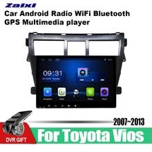 ZaiXi 9 Inch 2Din Android Car Radio Wifi Autoradio HD Bluetooth Tochscreen GPS Multimedia Player For Toyota Vios 2007~2013