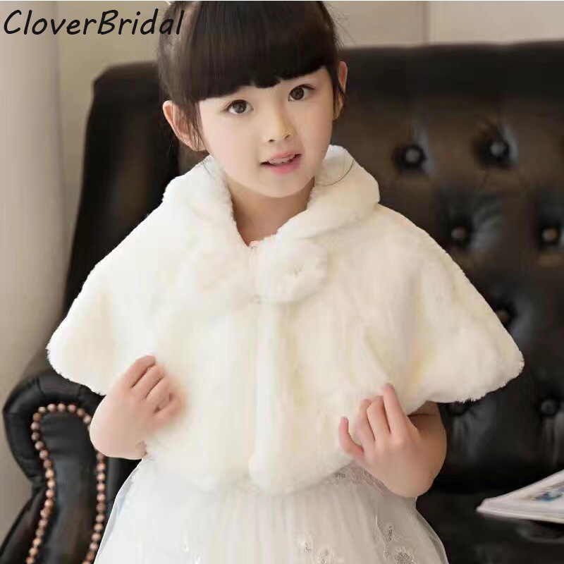 Baby Little Girl Kids Bolero Jacket Fur Jacket Fur Coat