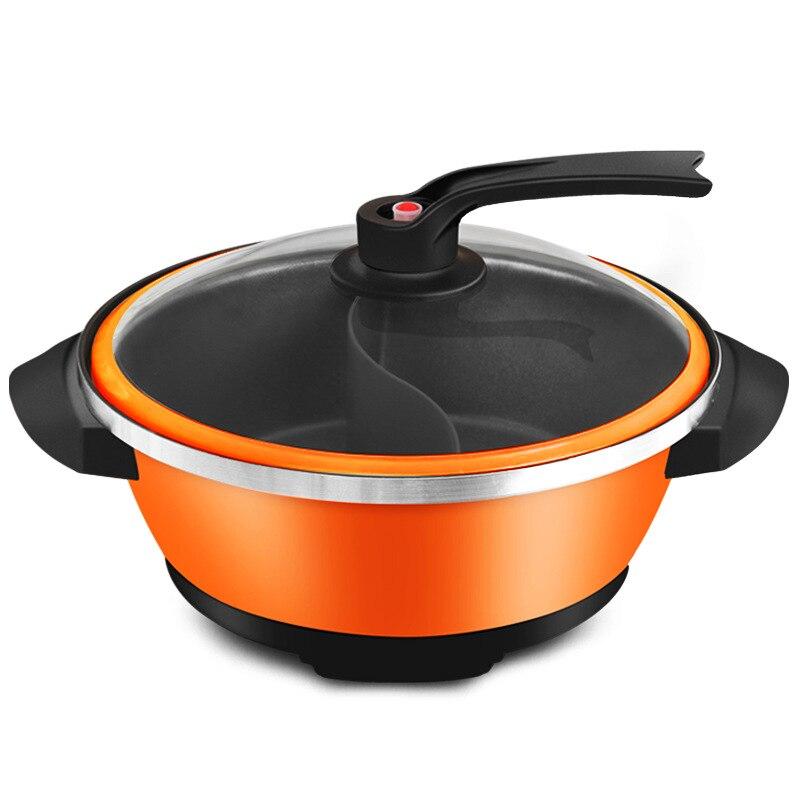 32CM cuiseur électrique chinois Fondue Machine de cuisson antiadhésive casserole sans fumée 6L ménage autocuiseur Hotpot