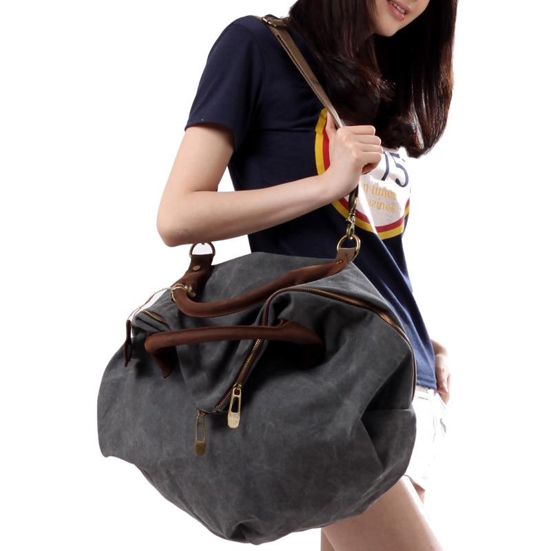 2017 hollywood style canvas women shoulder bag cowhide travel casual big bag handbag messenger bag body cross bag items SL37 men canvas satchel casual cross body handbag messenger shoulder bag