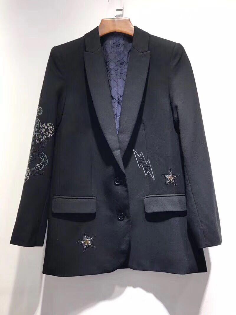 Blazers 2018 Manteau Nouveau Mode Perles Xiaoxiao Femmes Bqa6zqHw