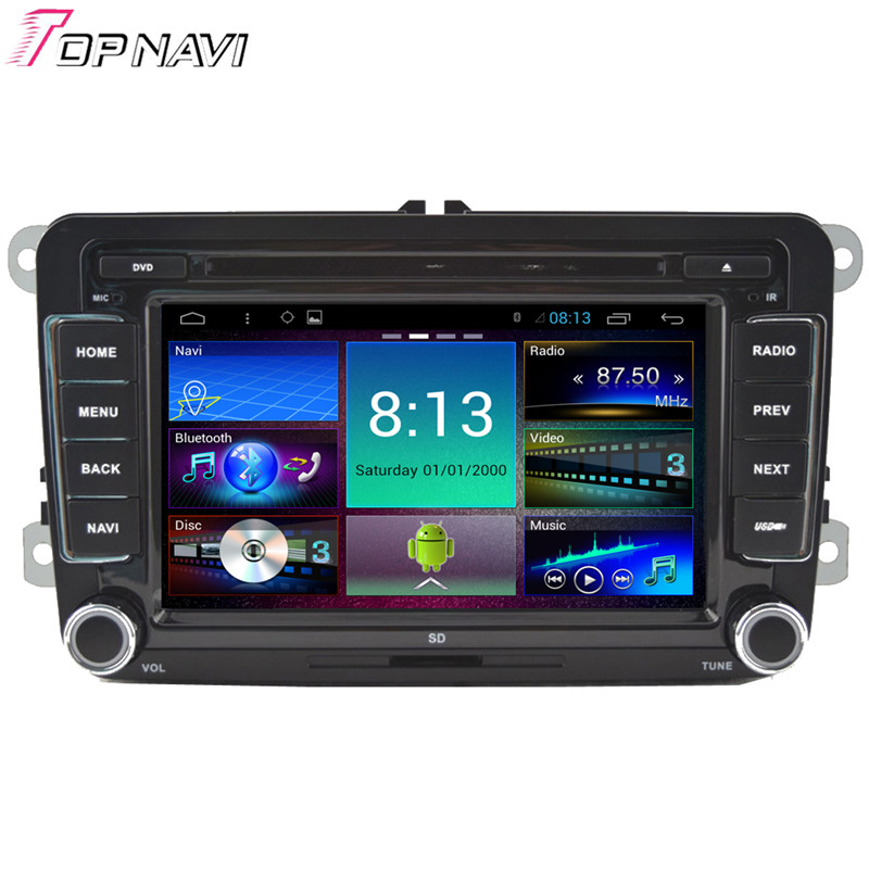 Top 7'' Quad Core Android 4.4 Car Stereo For VW Universal With GPS Map Radio Audio DVD 16GB Flash Mirror Link Free Shipping