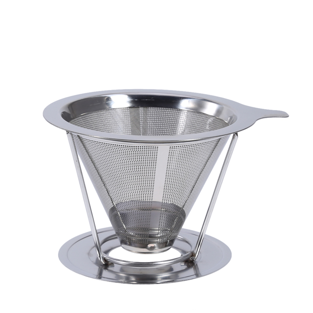 Filtro de caf reutilizable titular sets acero inoxidable - Filtro de malla ...