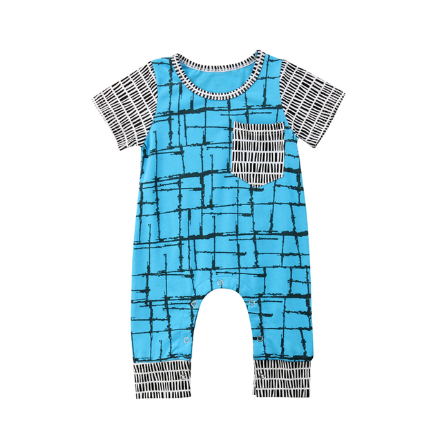 bd4203e65b0f 2018 Newborn Baby Boy Romper 0 24M Infant Toddler Kid Short Sleeve ...