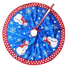 10 pcs lot 2016 new 80cm christmas tree skirt snowman snowflake blue xmas oranments supplies christmas tree skirt aprons natal - Blue Christmas Tree Skirt