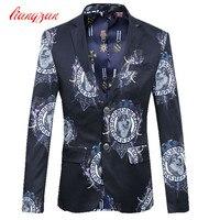 Men Casual Blazer Jacket Brand Business Blazer Suit Male Plus Size 5XL 6XL Cotton Wedding Masculino