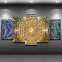 Church Roof Spray Oil Painting Decoration For Home Artistic Print Drawing Decor On Canvas Framed Printed