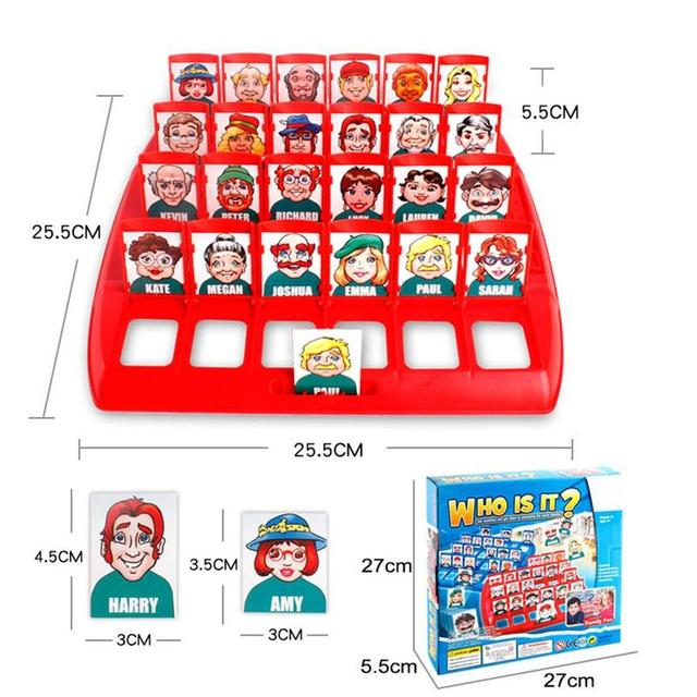 Who Is It Classic Board Game Funny Family Guessing Games Kids Children Toy Gift DIY7470