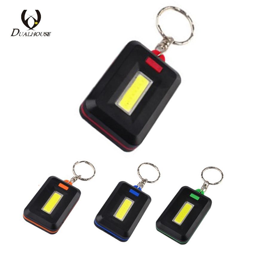 Fashion Portable Mini COB LED Flashlight Key Chain Ring Keychain Lamp Key Finder Handy Light Lamp Carabiner Camping Outdoor d63