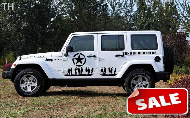 Band of brothers patterned the whole body stickers label car stickers for jeep car stickers decal with wrangler on aliexpress com alibaba group